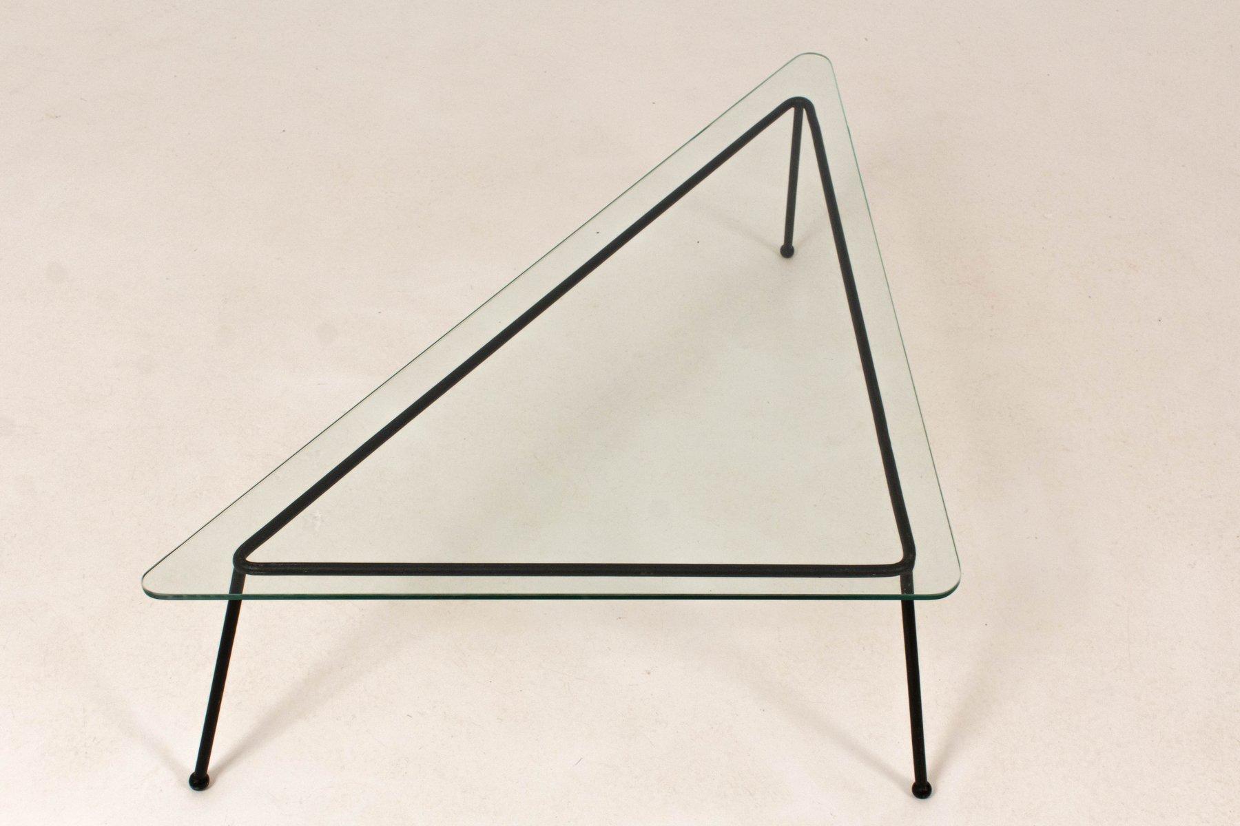 Mid century modern triangular coffee table 1960s for sale at pamono mid century modern triangular coffee table 1960s geotapseo Choice Image