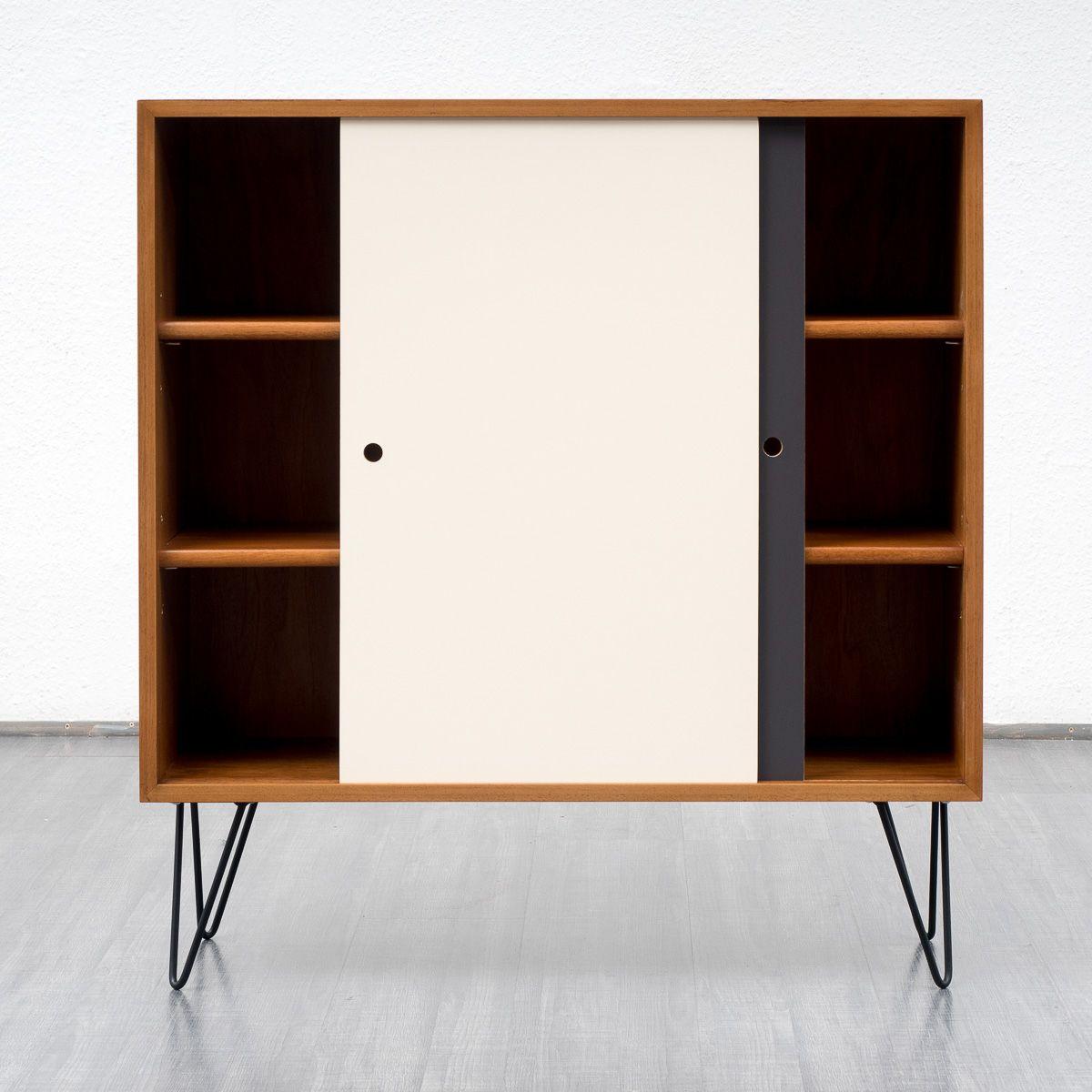 highboard mit farbigen t ren 1960er bei pamono kaufen. Black Bedroom Furniture Sets. Home Design Ideas