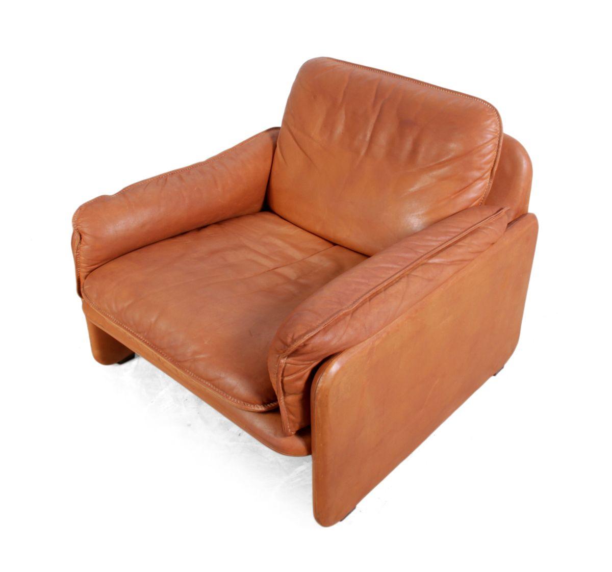 Vintage DS 61 Leather Armchair By De Sede 1980s For Sale
