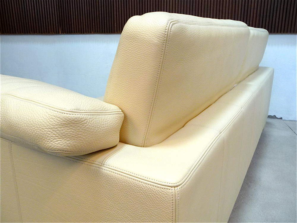 German WK 612 Club Leather Sofa From Wohnen For Sale At