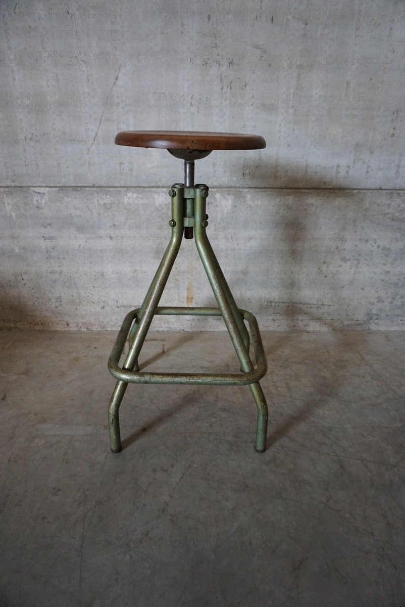 French Industrial Adjustable Stool 1950s & French Industrial Adjustable Stool 1950s for sale at Pamono islam-shia.org