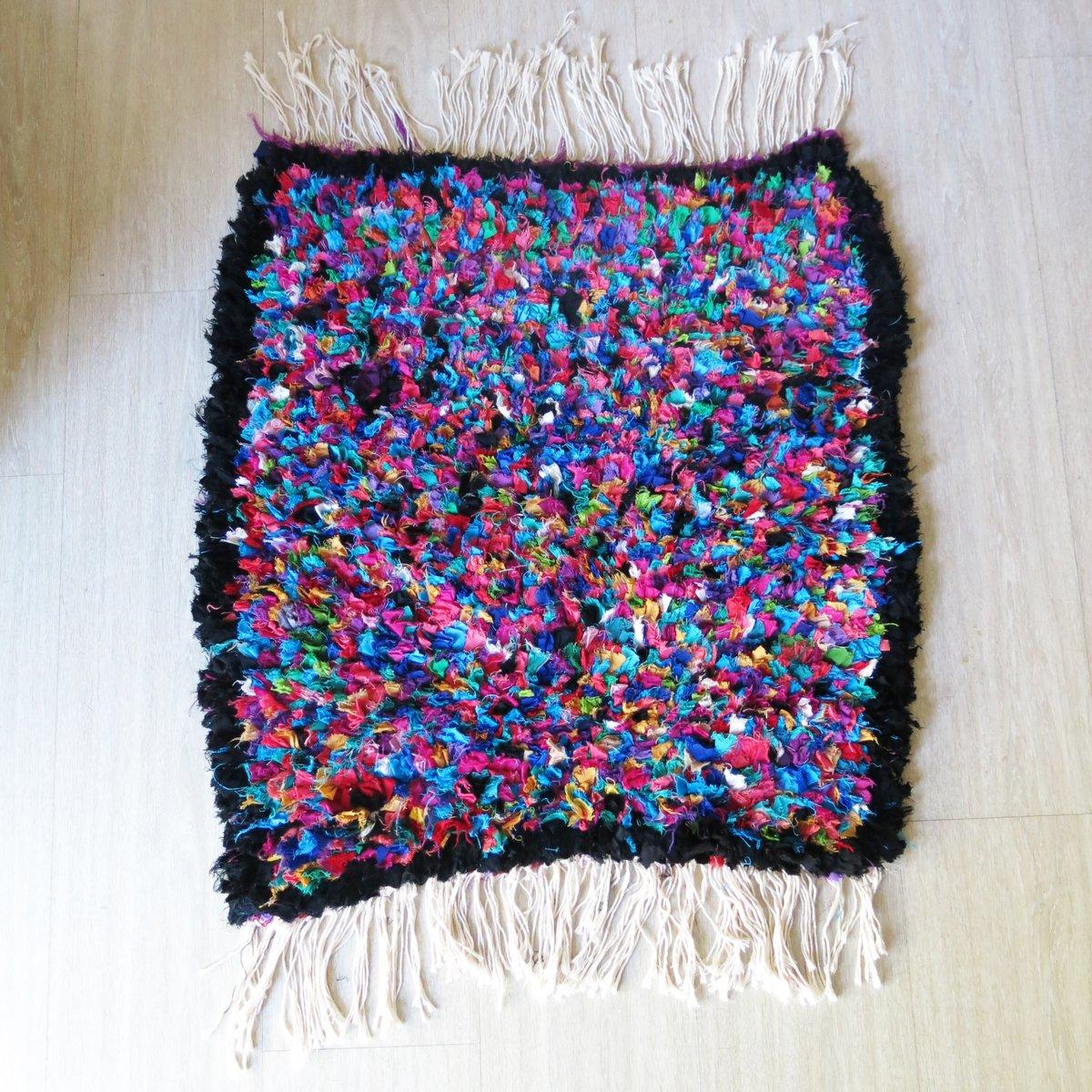 kleiner marokkanischer teppich 1990er bei pamono kaufen. Black Bedroom Furniture Sets. Home Design Ideas