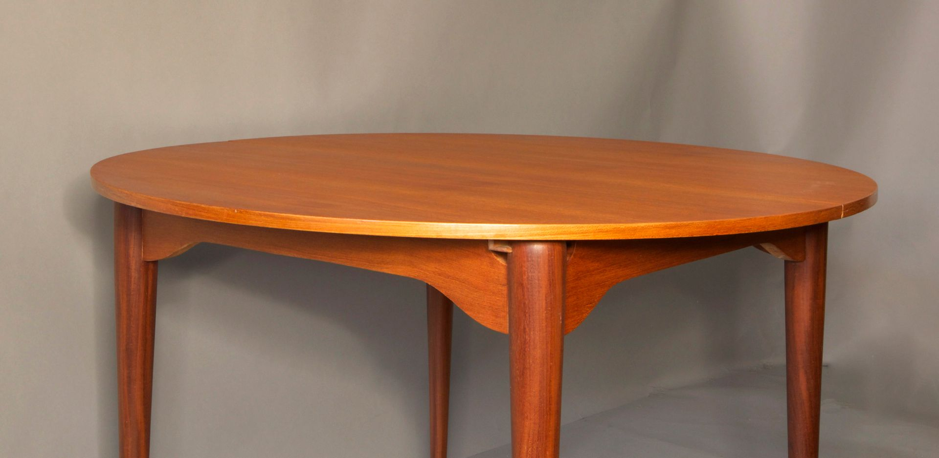 Circular Teak Extendable Dining Table By Hans Olsen 1960s For Sale At Pamono