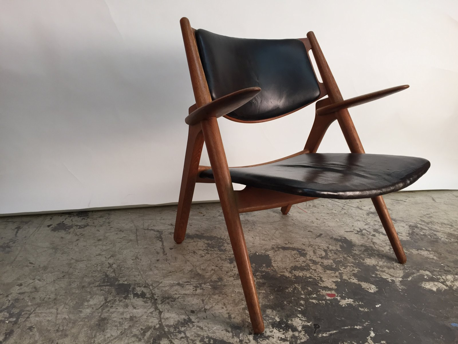 Danish CH28 Sawhorse Chair by Hans J Wegner for Carl Hansen & Son