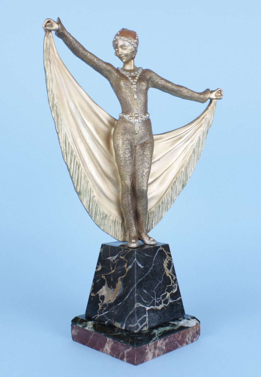 art deco french bronze statue by henri grisard 1920s for sale at pamono. Black Bedroom Furniture Sets. Home Design Ideas