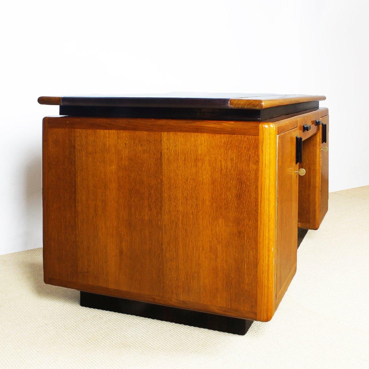 Tisch schule  Amsterdamer Schule Eichenholz Tisch, 1920er bei Pamono kaufen