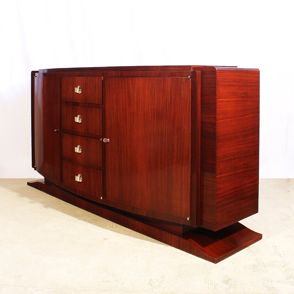 french art deco mahogany rosewood sideboard 1930s for sale at pamono. Black Bedroom Furniture Sets. Home Design Ideas