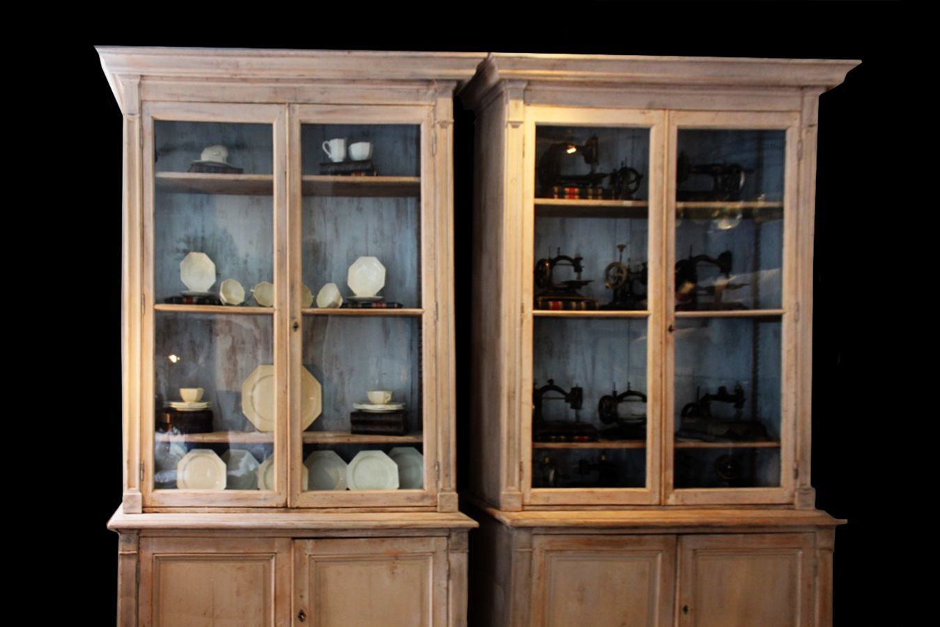 Antique French Pharmacy Cabinets, Set of 2 for sale at Pamono