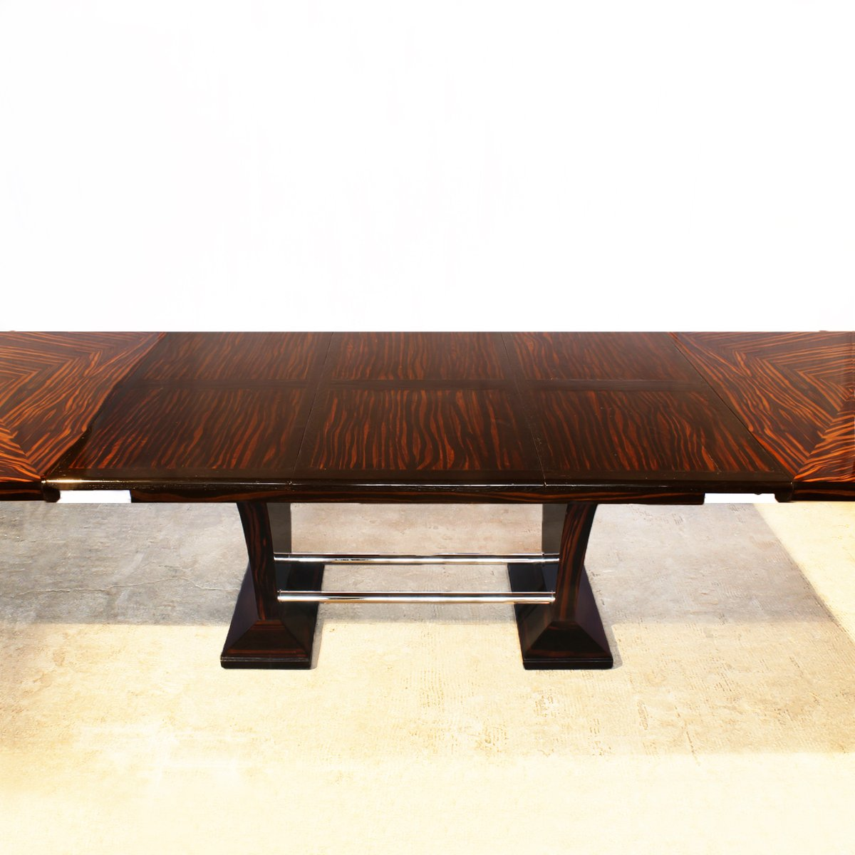 Art Deco Dining Table with Extension Leaves, 1930s for sale at Pamono