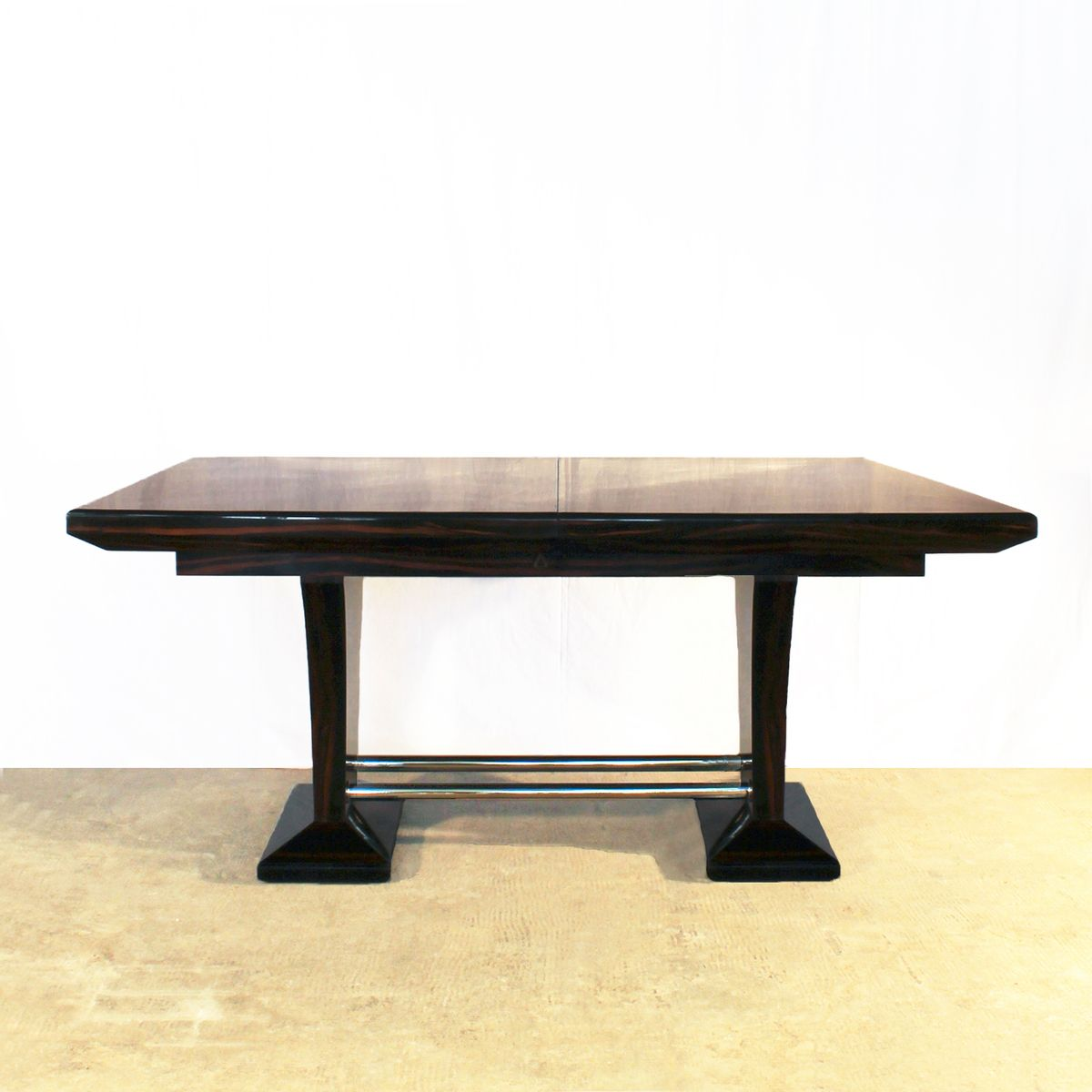 Table De Salle Manger Art D Co Avec Extensions 1930s En