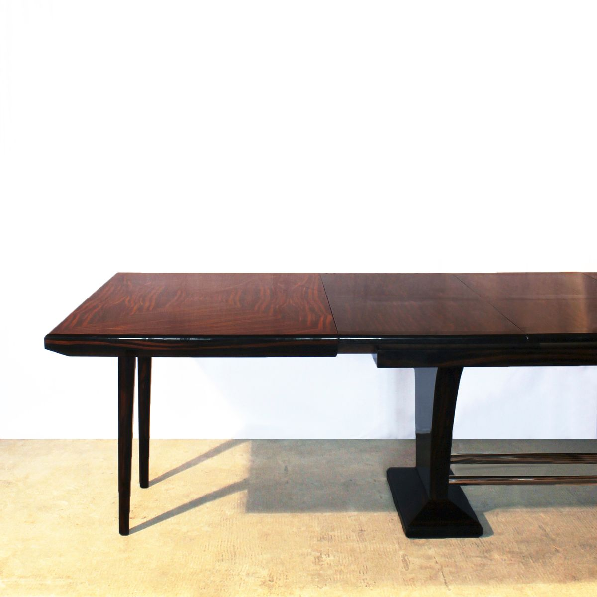 Art Deco Dining Table With Extension Leaves 1930s For Sale At Pamono