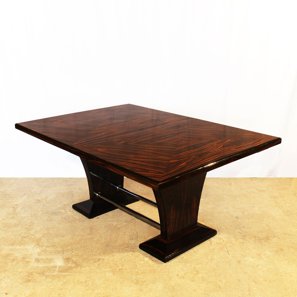 art deco dining table with extension leaves 1930s for
