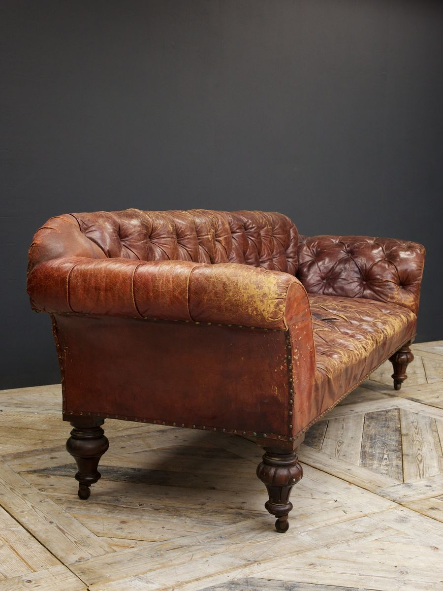 red leather sofa 1860s for sale at pamono vinta