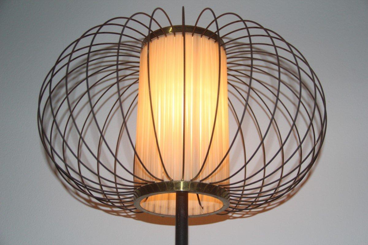 italienische messing marmor stehlampe 1950er bei pamono kaufen. Black Bedroom Furniture Sets. Home Design Ideas