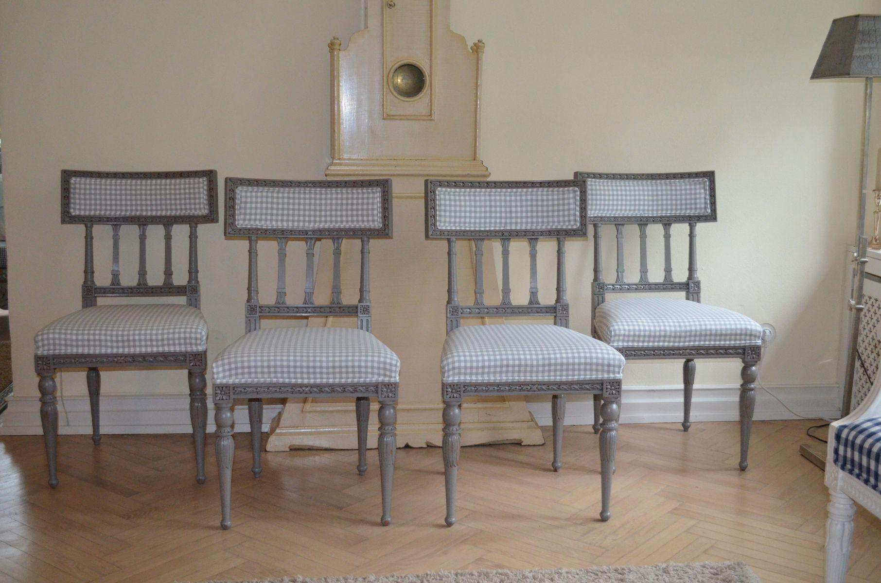gustavianische vintage st hle 4er set bei pamono kaufen. Black Bedroom Furniture Sets. Home Design Ideas