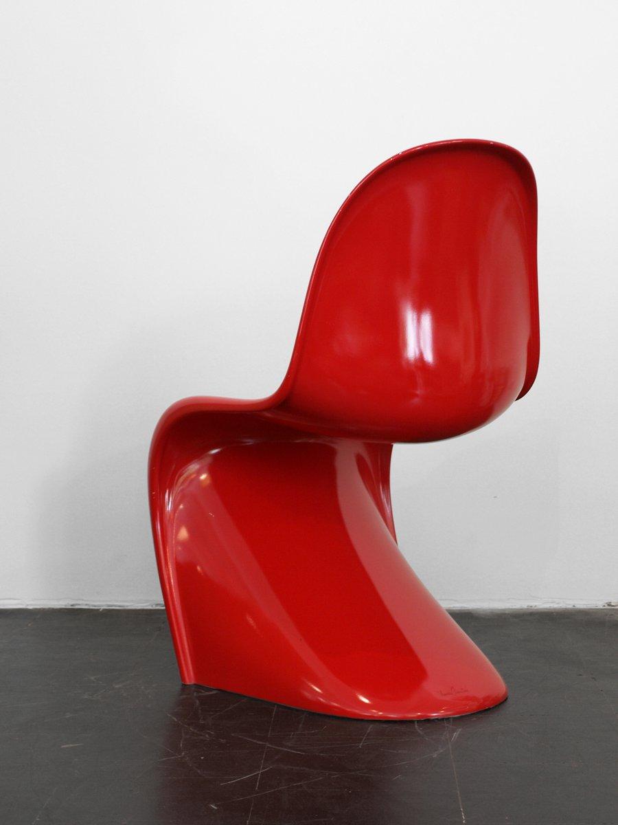 chaise panton baydur vintage rouge par verner panton pour vitra en vente sur pamono. Black Bedroom Furniture Sets. Home Design Ideas