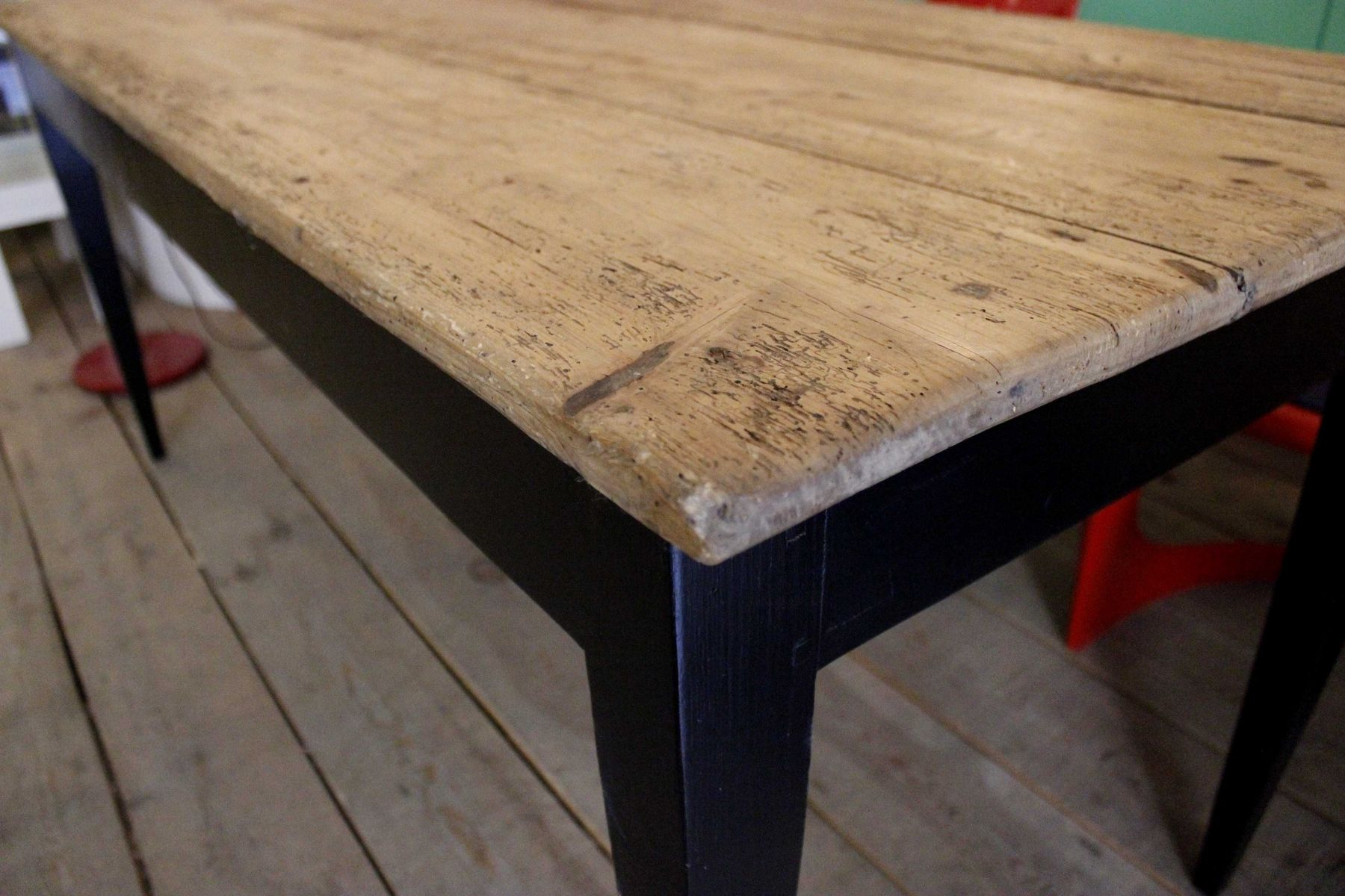 Pine Kitchen Tables For Mid Century Pine Kitchen Table For Sale At Pamono