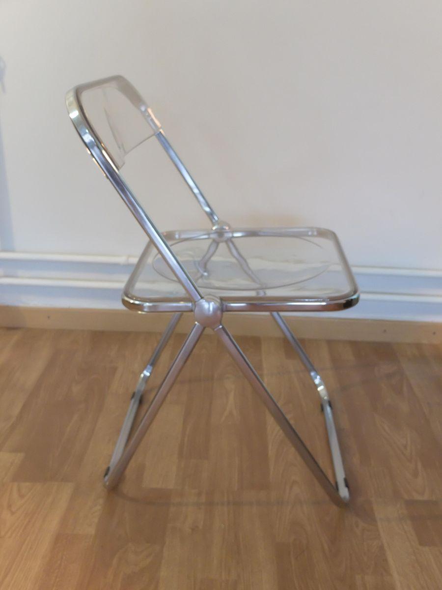 italian perspex folding chair by giancarlo piretti for