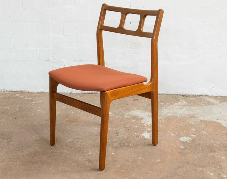 danish teak chairs by johannes andersen 1960s set of 6 for sale at