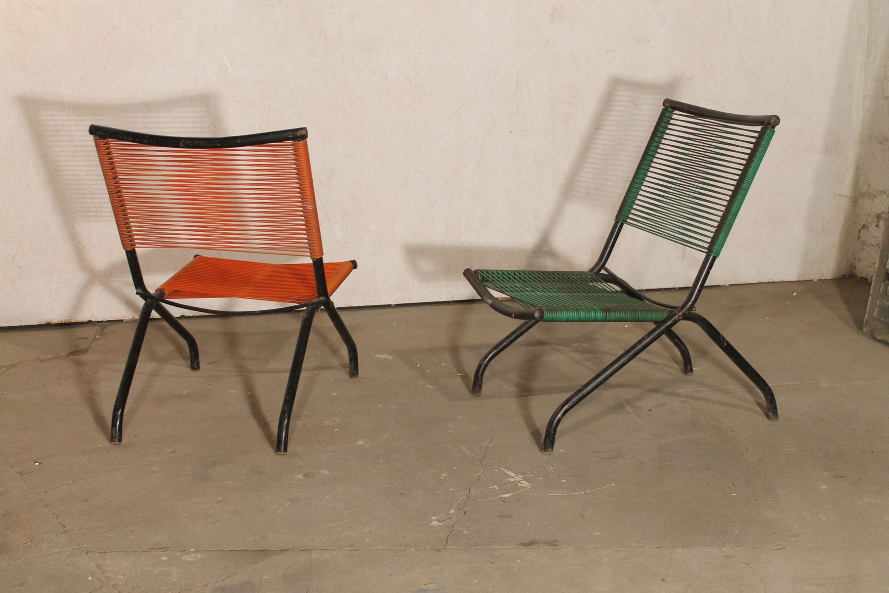French Folding Chairs 1950s Set Of 2 For Sale At Pamono