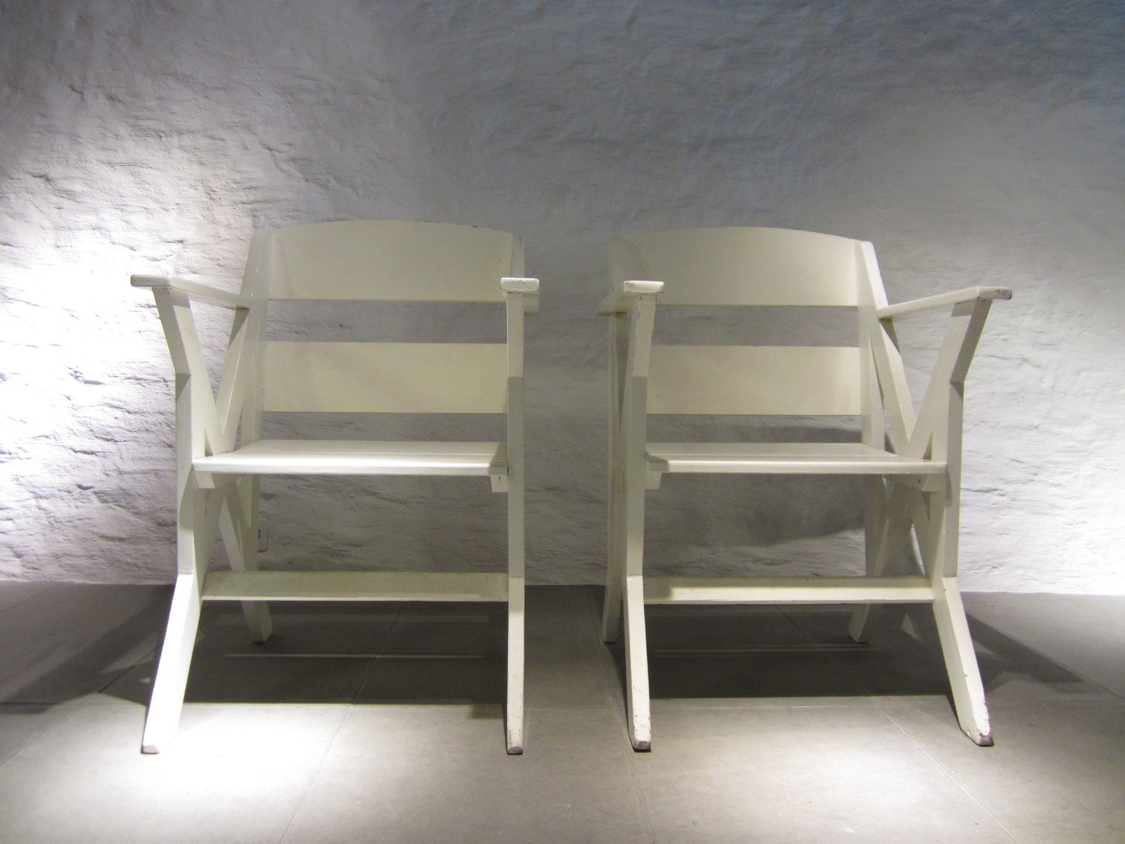 French Veranda Chairs 1940s Set Of 2 For Sale At Pamono