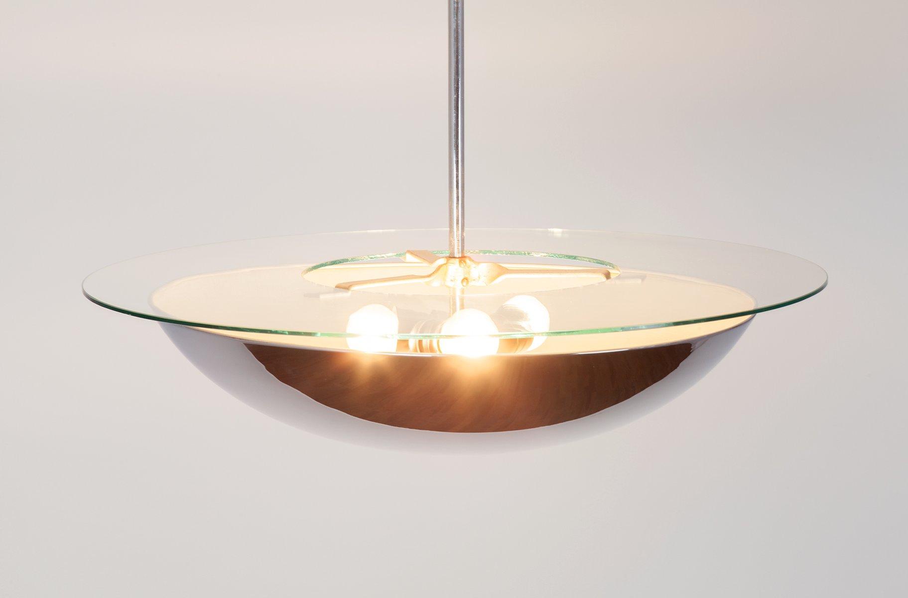 Spiegel glas und metall h ngelampe 1960er bei pamono kaufen for Spiegel glas