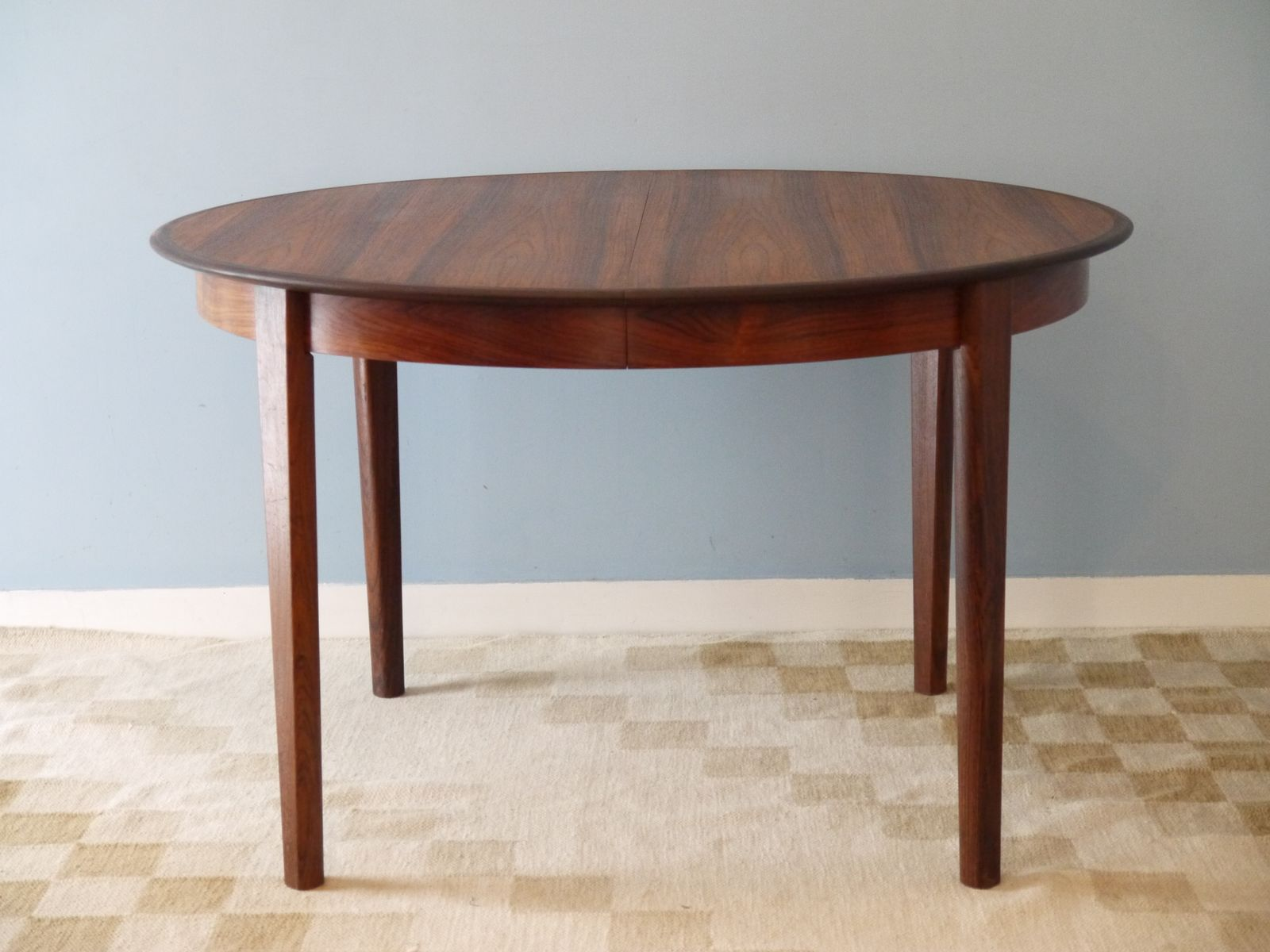 Danish rosewood dining table from skovby m belfabrik - Table ronde extensible ...