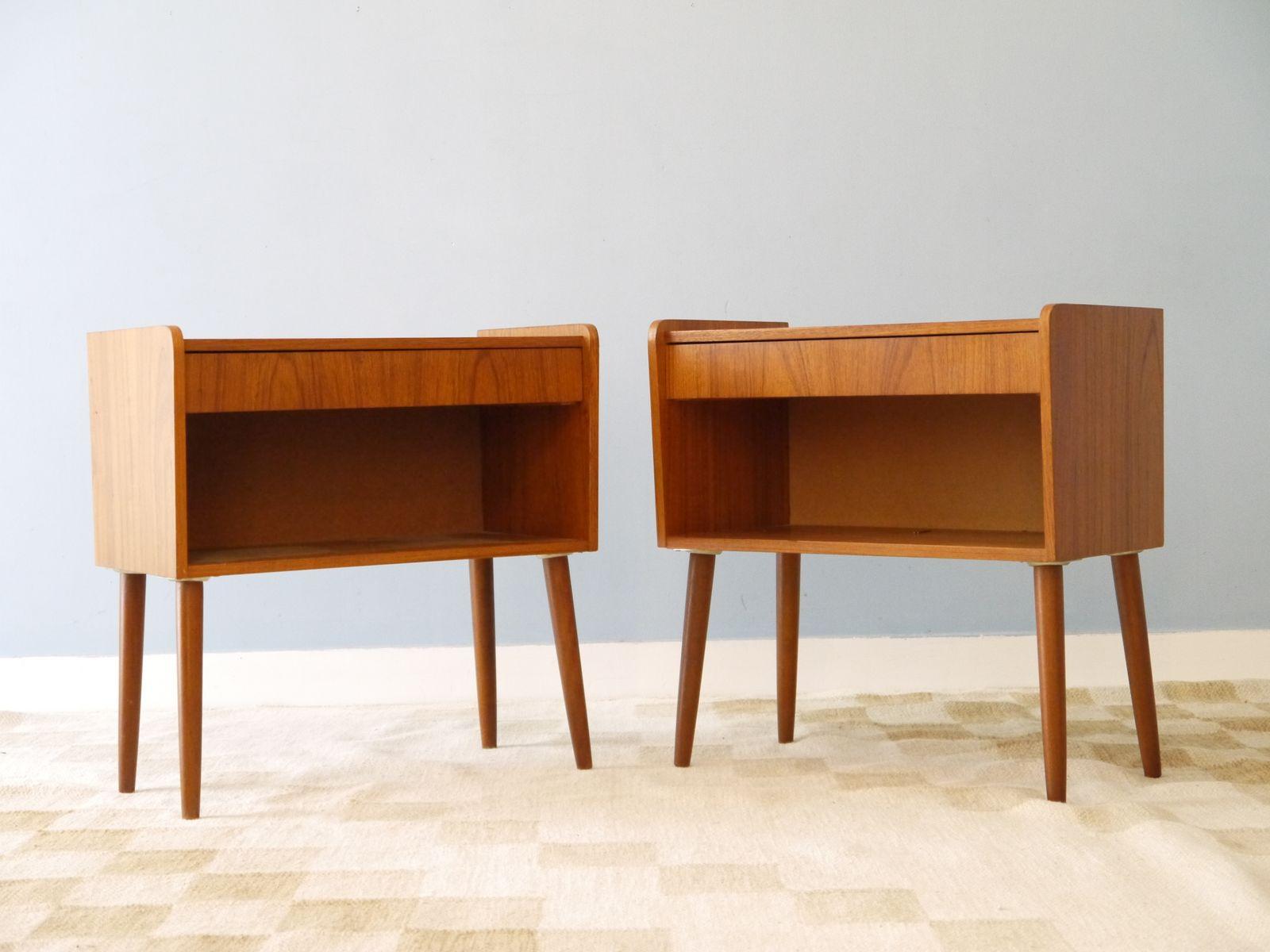 Vintage bedside table ideas - Swedish Vintage Bedside Tables 1960s Set Of 2