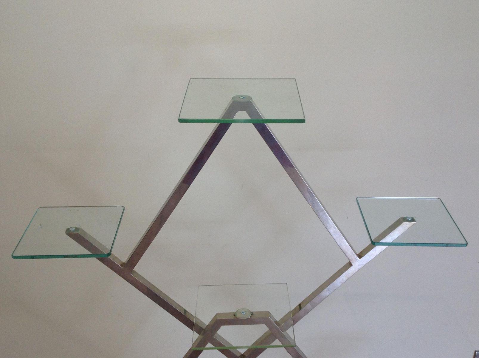 vintage art deco chrome glass etag re for sale at pamono. Black Bedroom Furniture Sets. Home Design Ideas
