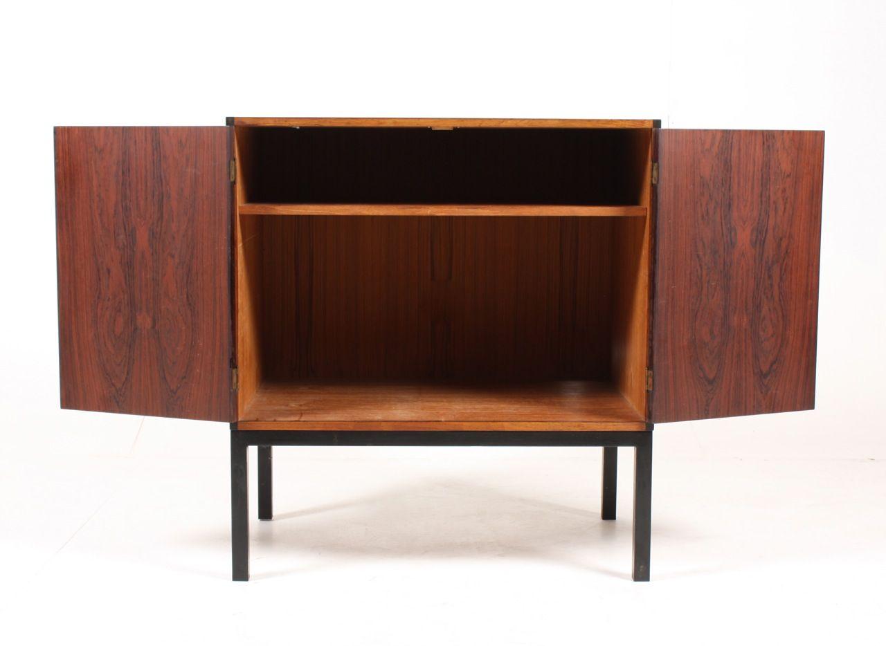 Mid Century Medium Size Danish Rosewood Cabinet For Sale