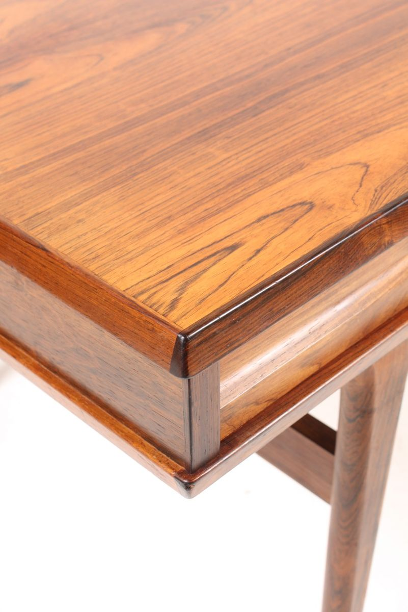 danish mid century rosewood coffee table with drawers for sa
