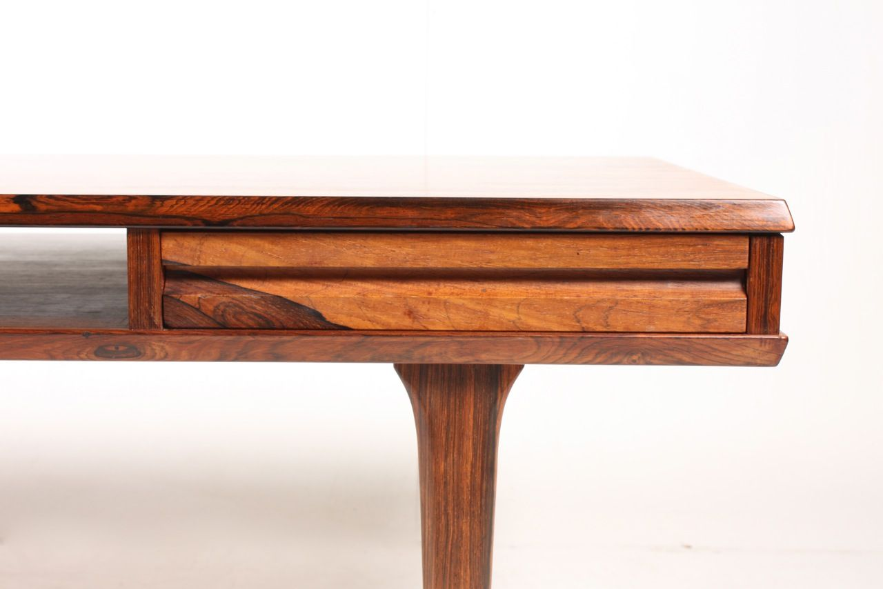 Danish Mid Century Rosewood Coffee Table With Drawers For Sale At Pamono