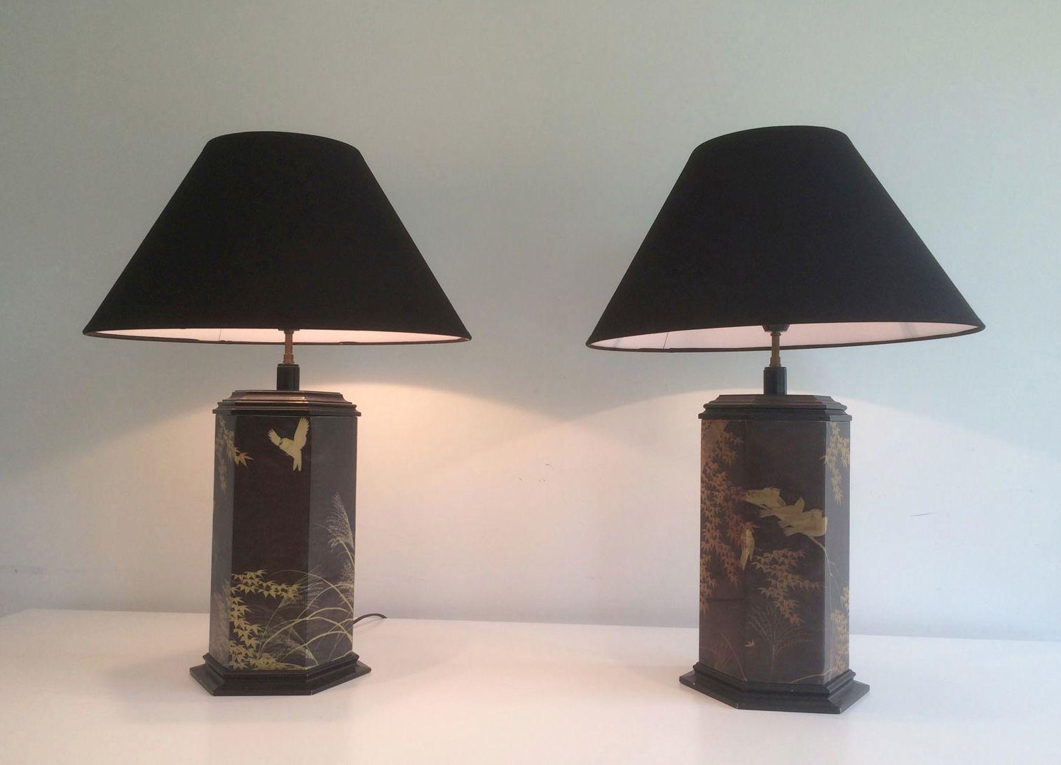Chinoiserie lampen 1970er 2er set bei pamono kaufen for Lampen niederlande