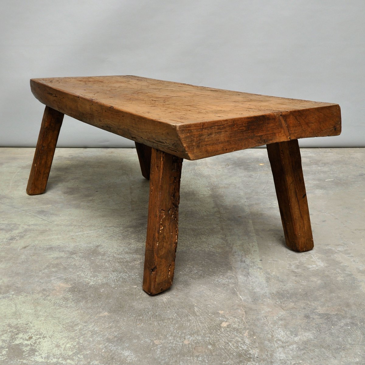 Hungarian Butcher Block Coffee Table 1900s For Sale At Pamono. Full resolution‎  photo, nominally Width 1200 Height 1200 pixels, photo with #653A1A.
