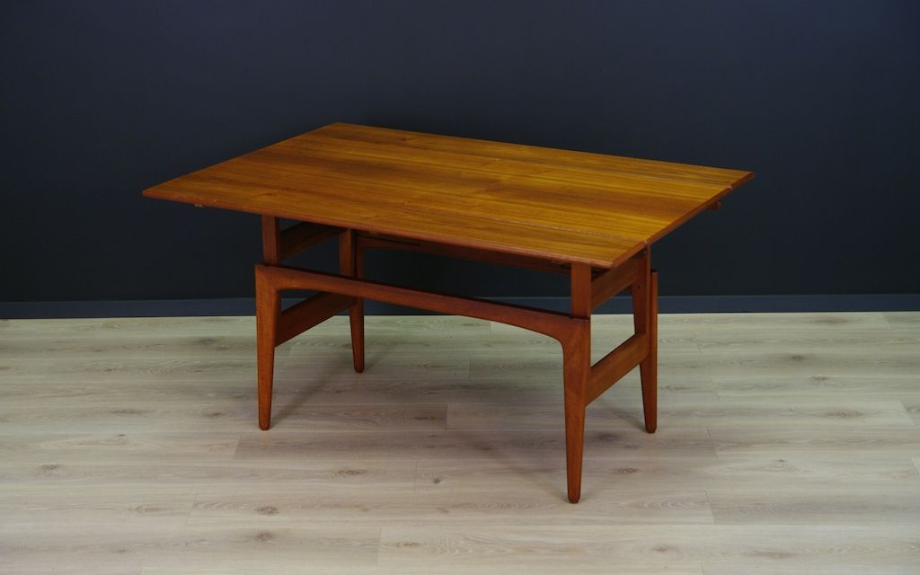 Coffee Dining Table By Kai Kristiansen For Trioh M Belfabrik 1960s For Sale At Pamono