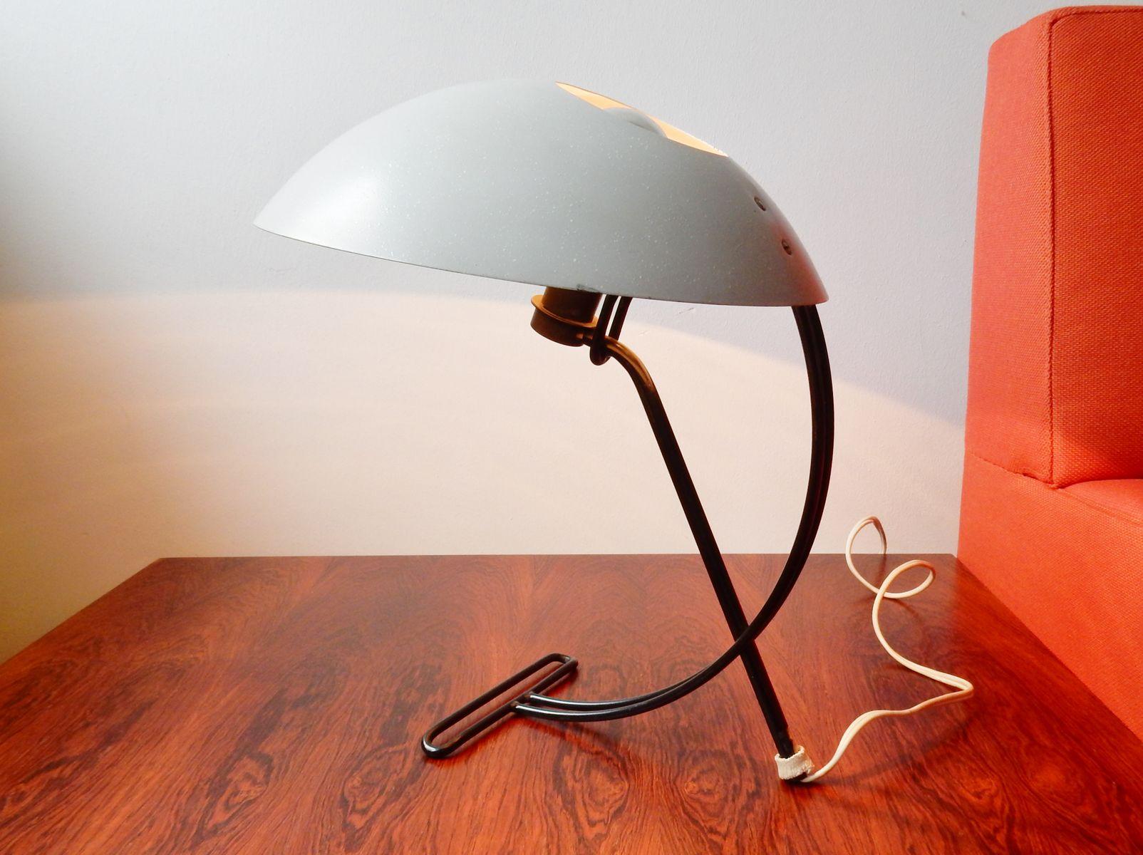 lampe de table nb100 mid centrury par louis kalff pour philips en vente sur pamono. Black Bedroom Furniture Sets. Home Design Ideas
