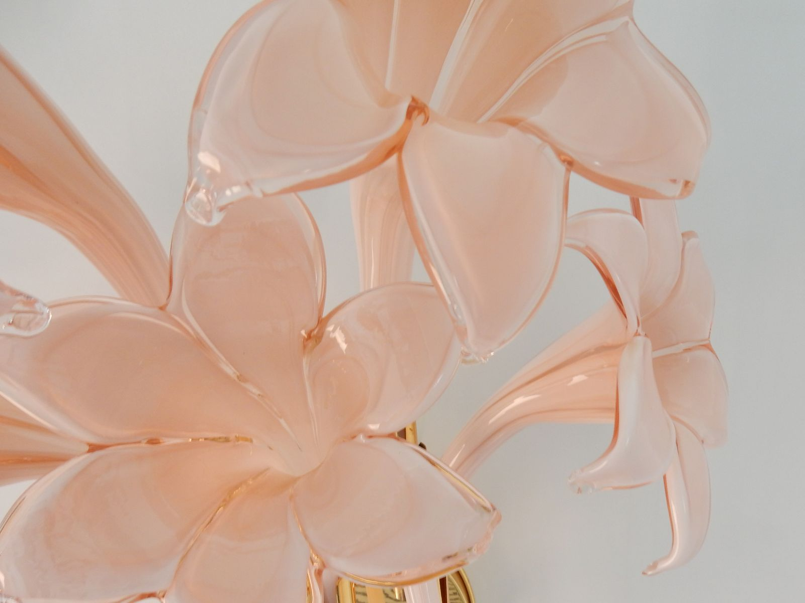 Vintage Murano Glass Flower Wall Lights, Set of 2 for sale at Pamono