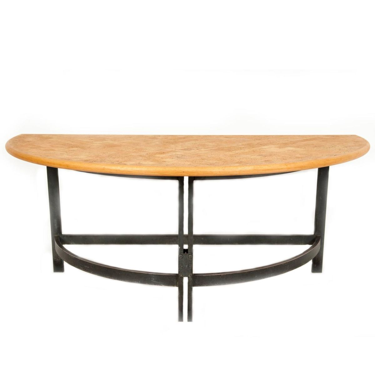 halbrunder tisch aus korken buchenholz stahl von poul. Black Bedroom Furniture Sets. Home Design Ideas