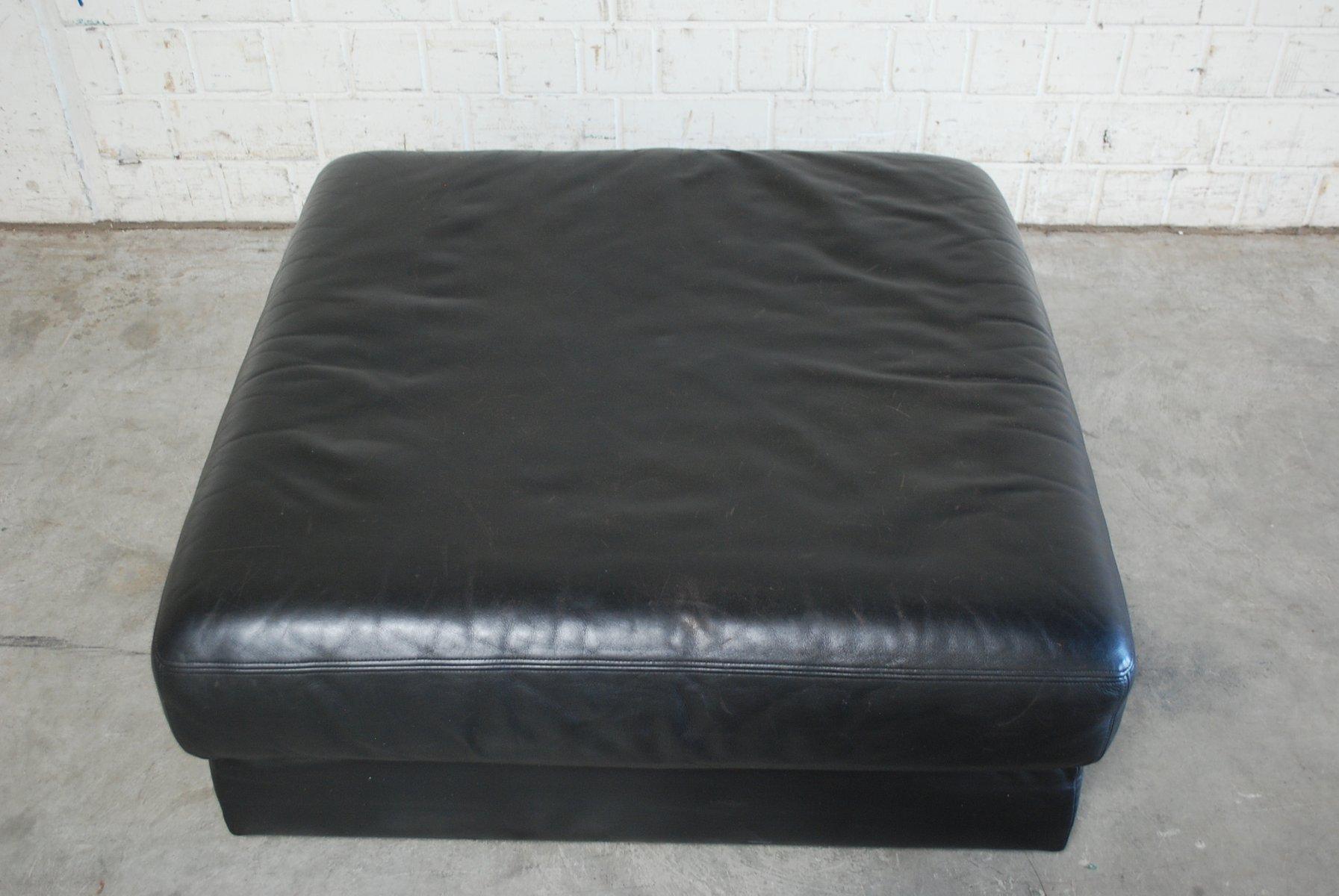 pouf ou divan ds 76 vintage cuir noir de de sede en vente. Black Bedroom Furniture Sets. Home Design Ideas