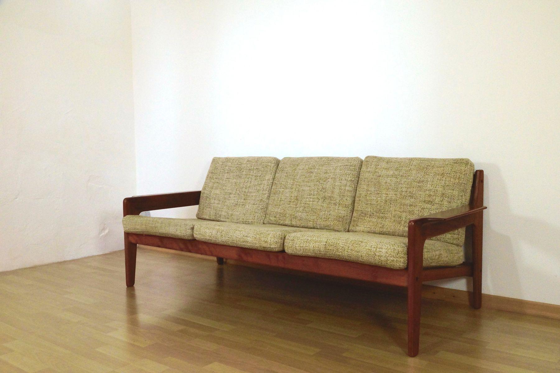 canap trois places en teck par arne wahl iversen pour komfort 1960s en vente sur pamono. Black Bedroom Furniture Sets. Home Design Ideas