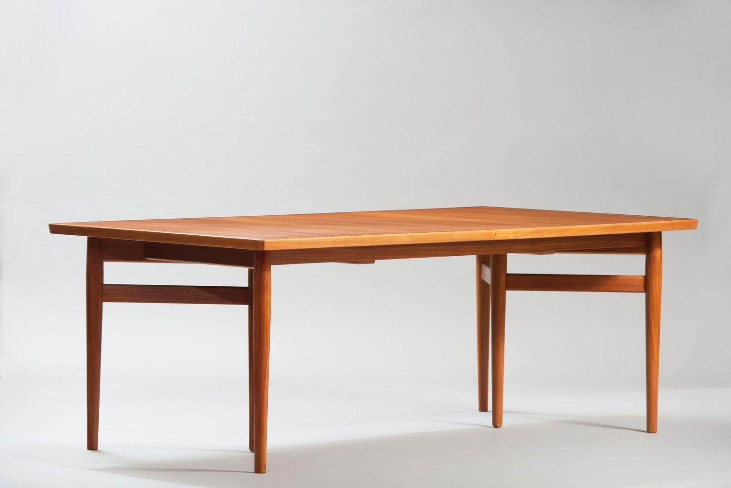 Esstisch Mid Century ~ Ausziehbarer MidCentury Esstisch mit Sechs Tischbeinen von Arne Vodder für S