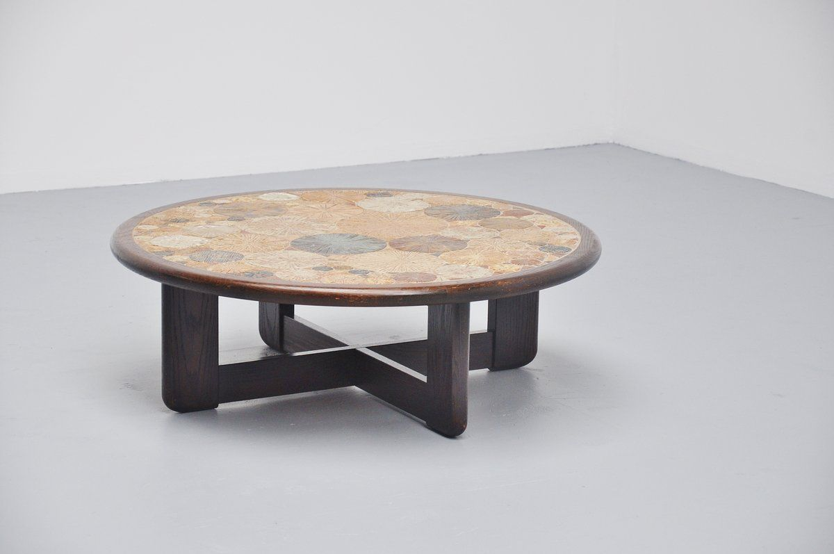 Danish Ceramic Art Tile Coffee Table By Tue Poulsen For Haslev 1963 For Sale At Pamono