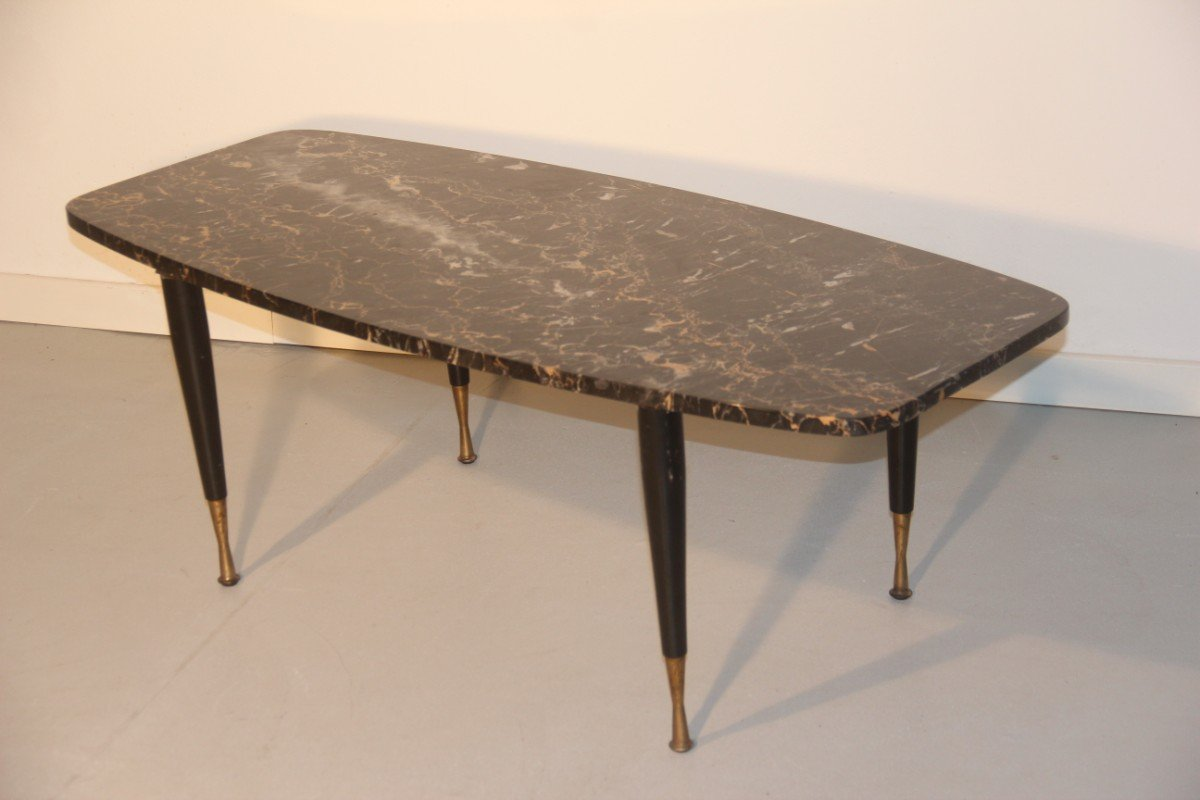 Italian Marble Brass Coffee Table 1950 for sale at Pamono
