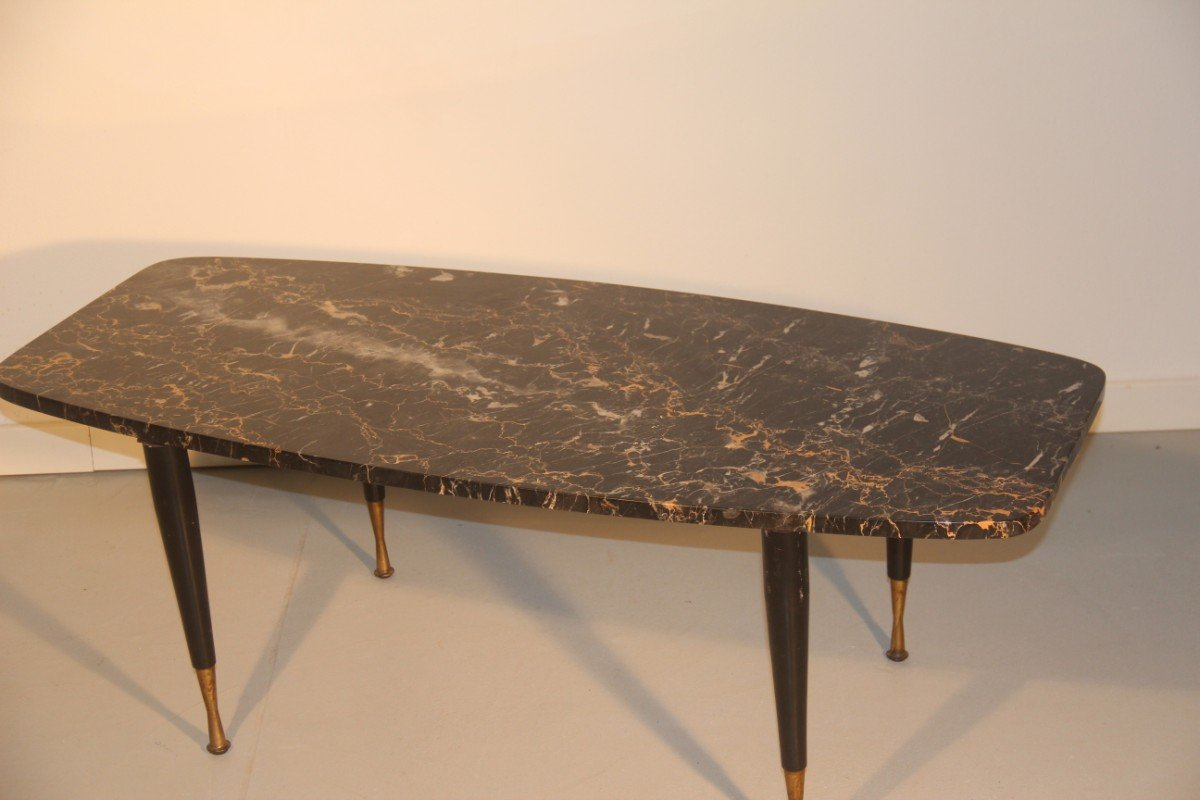 Italian marble brass coffee table 1950 for sale at pamono for Italian coffee table