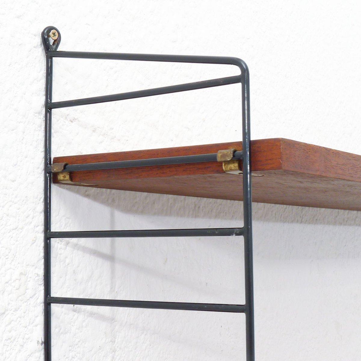 teakholz string regal von nisse strinning 1950er bei. Black Bedroom Furniture Sets. Home Design Ideas