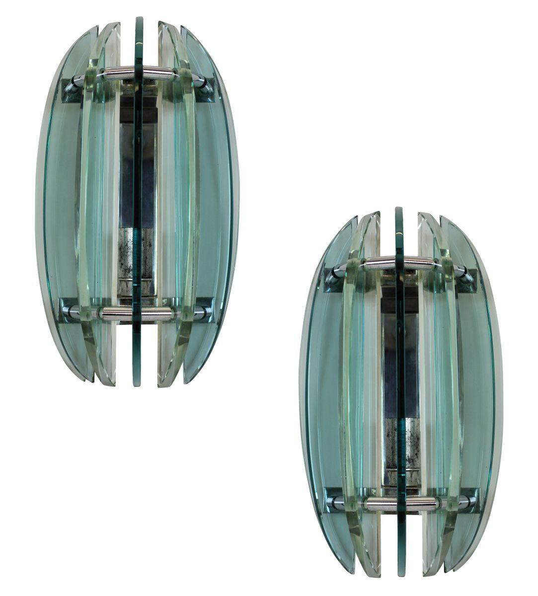 Wall Sconces Set Of 2 : Wall Sconces from Veca, 1950s, Set of 2 for sale at Pamono