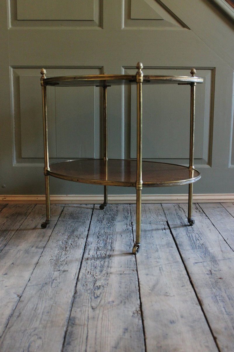 antique kingwood and brass etagere for sale at pamono. Black Bedroom Furniture Sets. Home Design Ideas