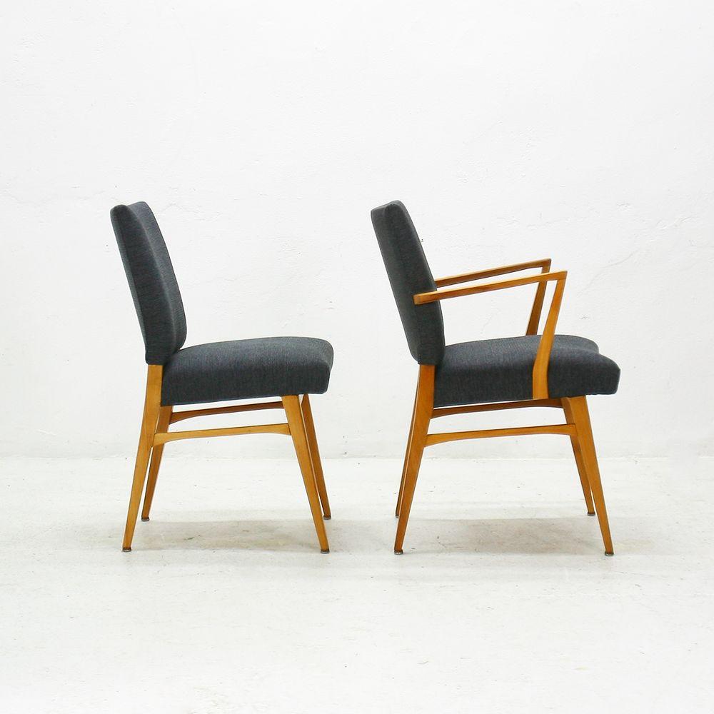 Chaises de salle manger en merisier 1950s set de 4 en Chaises de salle a manger en solde