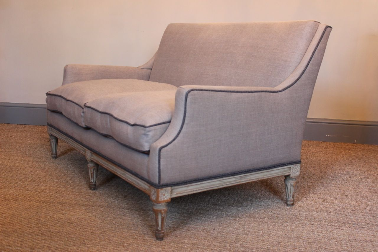 Antique Small French Painted Sofa For Sale At Pamono