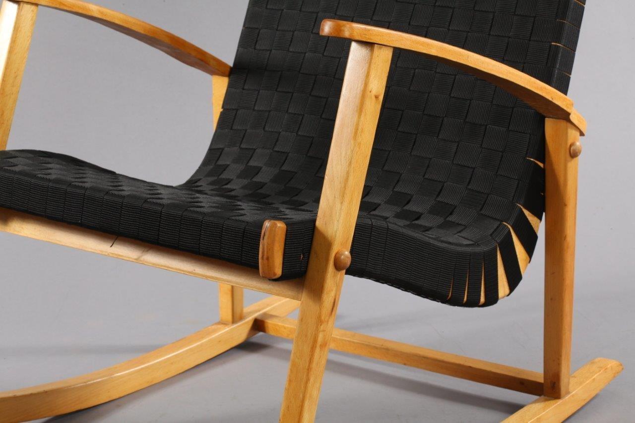 tschechischer schaukelstuhl 1950er bei pamono kaufen. Black Bedroom Furniture Sets. Home Design Ideas